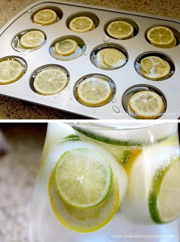 Lemon & Lime Ice Cubes.
