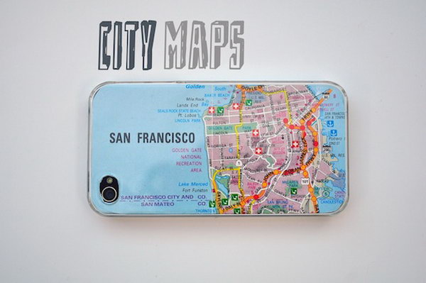 Make an iPhone Case Out of an Old Map