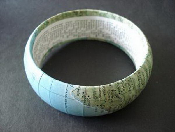 Make a Bangle from a Vintage Map