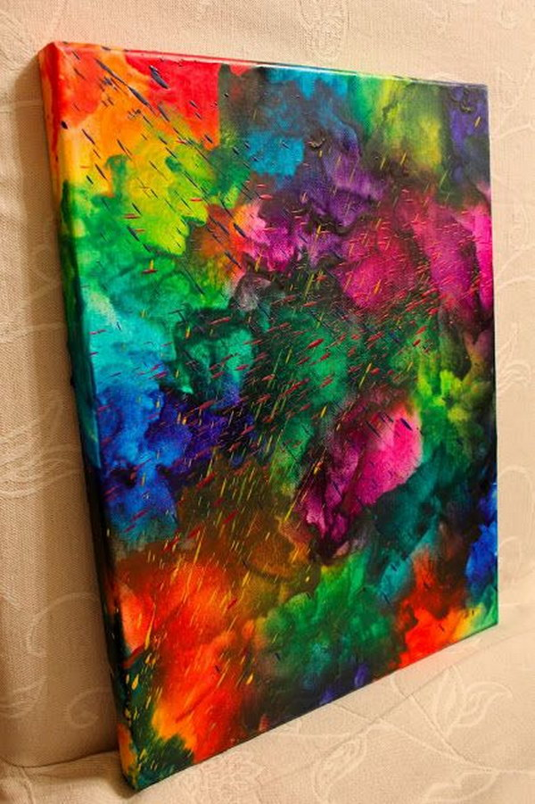 Abstract Melted Crayon Art.