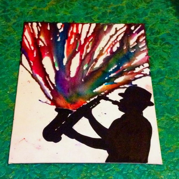 Playing with All Your Heart Melted Crayon Art.