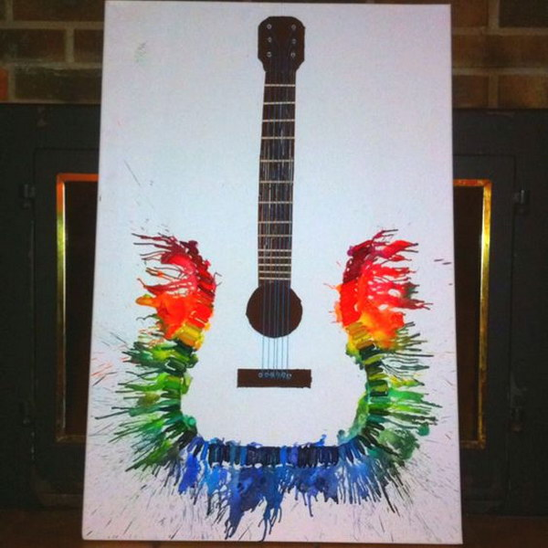 Melted Crayon Guitar.