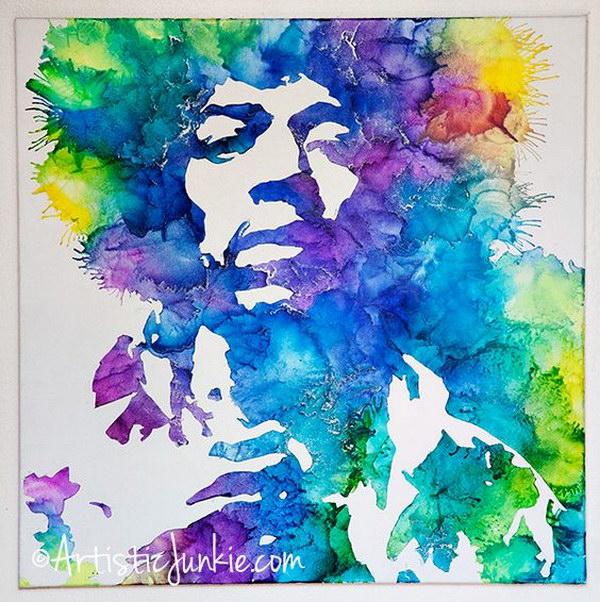 Jimi Hendrix Crayon Art DIY.