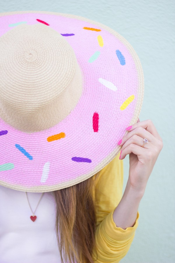 Upgrade your Plain Floppy Hat to Cute Donut Floppy Hat With Nail Polish