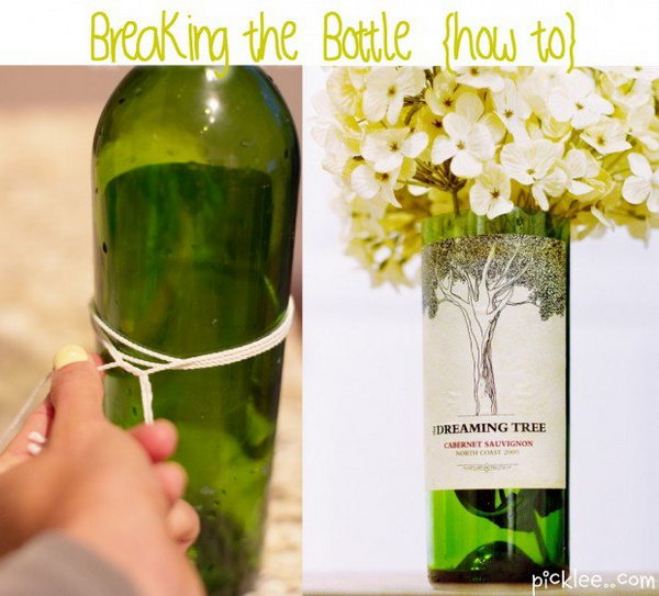Turn Empty Wine Bottles into Amazing and Unique Vases with Nail Polish Remover