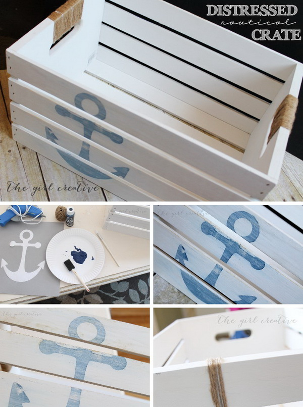 DIY Distressed Nautical Crate Tutorial