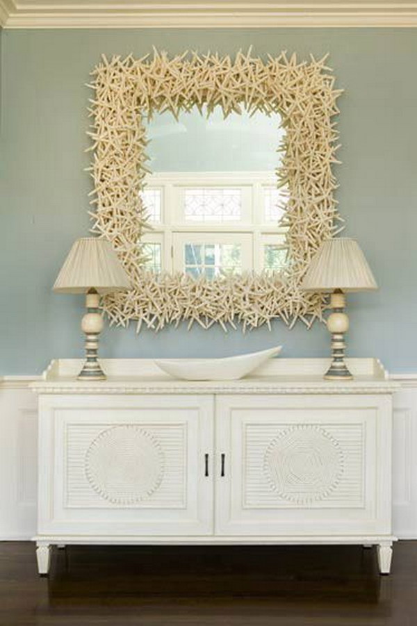 Over Sized Starfish Decorated Mirror