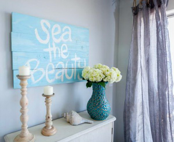 DIY Nautical Wood Sign