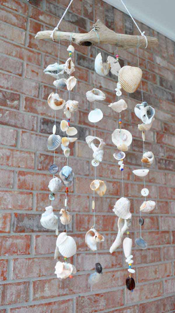 DIY Seashell Windchimes