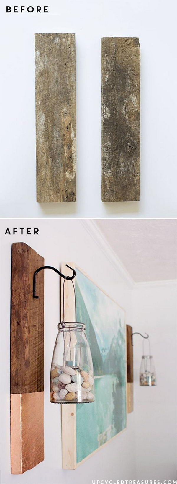 DIY Large Scale Wall Art with Wood Frame.