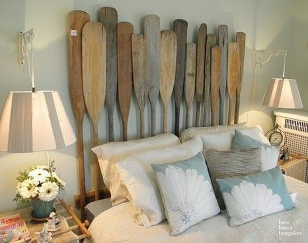 Wooden Oars Headboard