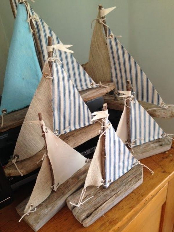 Diy ideas tutorials for nautical home decoration for How to make driftwood crafts