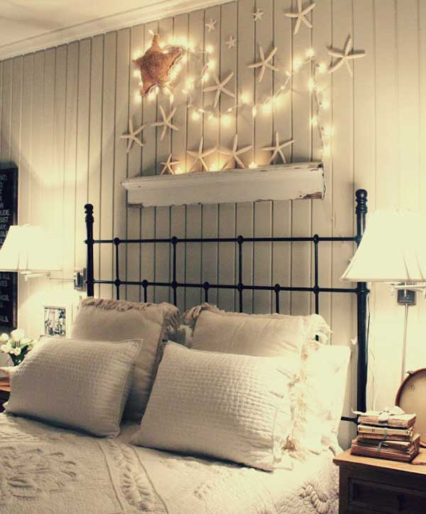 Nautical Decorating Ideas Home Part - 21: DIY Beachy Decoration Above The Bed