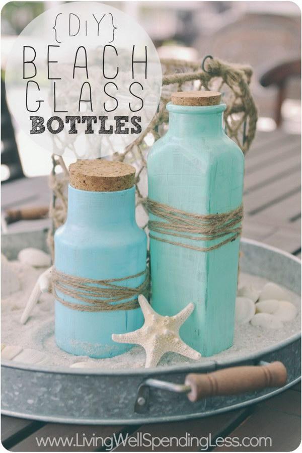 DIY Beach Glass Bottles