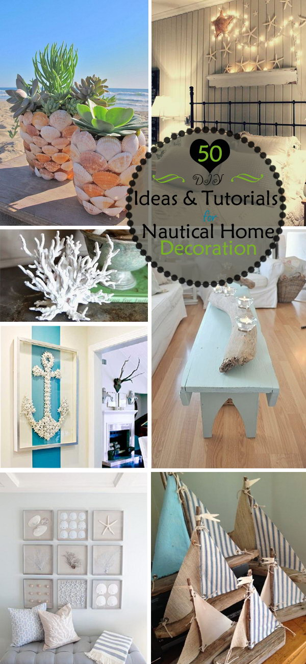 diy ideas amp tutorials for nautical home decoration 40 nautical decoration ideas for your home bored art