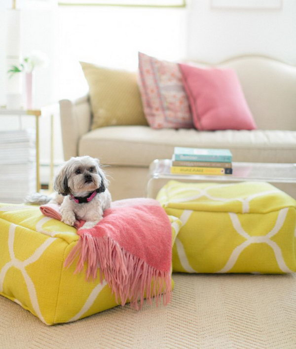 DIY Floor Pouf. Get the steps