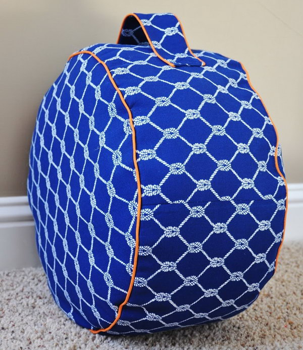 Land of Nod inspired Floor Pouf. Get the instructions