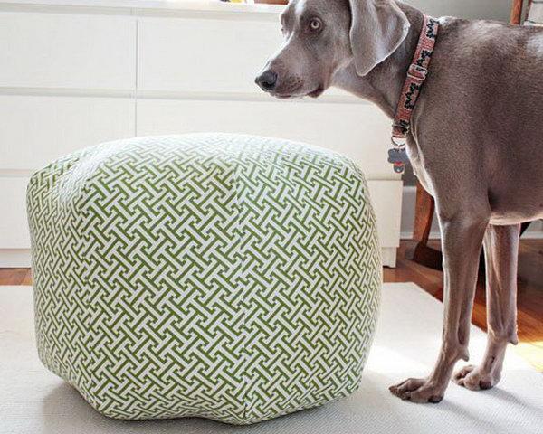 DIY Fabric Ottoman. Get more details