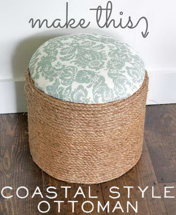 Coastal Style Ottoman. Get the full directions