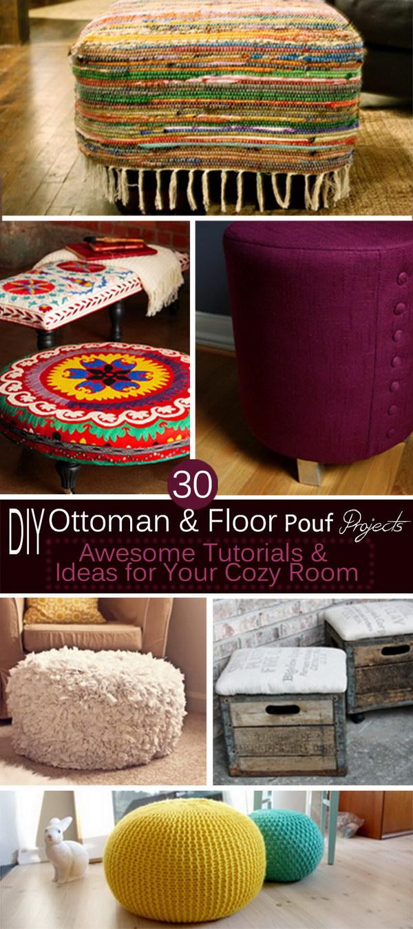 Fine 30 Diy Ottoman Floor Pouf Projects Awesome Tutorials Machost Co Dining Chair Design Ideas Machostcouk