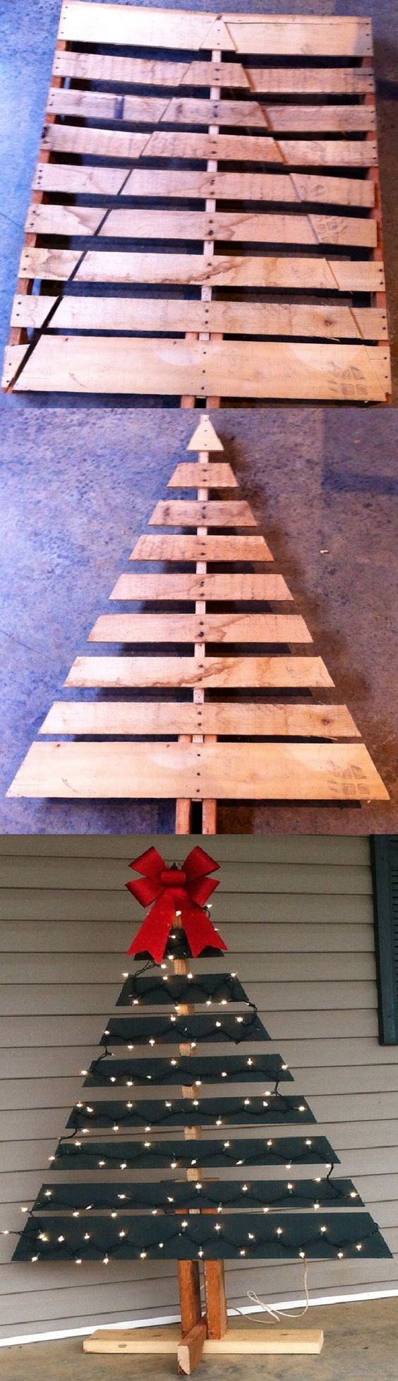 DIY Christmas Tree for Your Front Porch out of a Pallet.