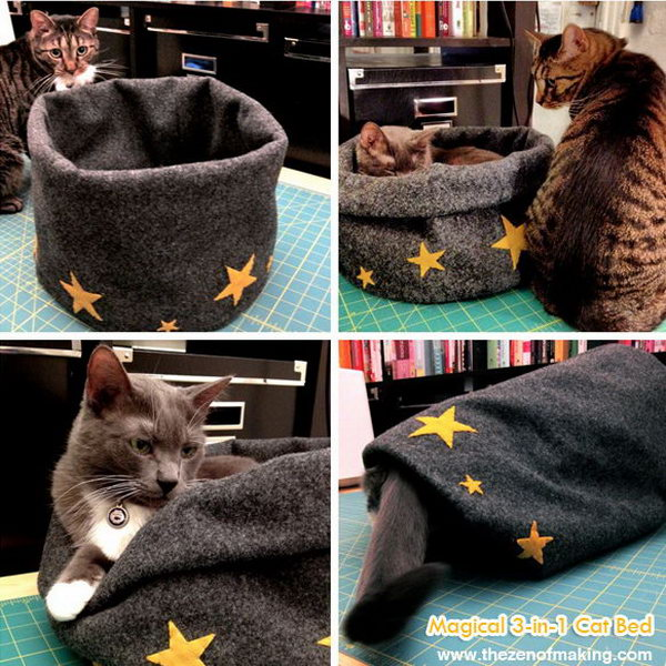 Magical 3 in 1 Cat Bed.