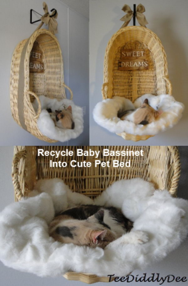 Recycle Baby Cradle Into Cute Pet Bed.