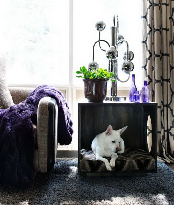 Make a Three-Sided Cube Pet Bed and Occasional Table.