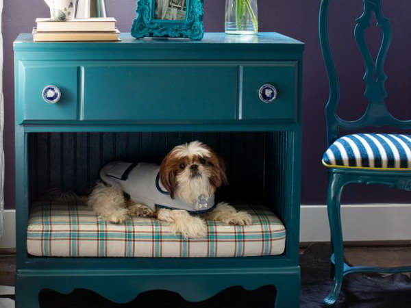Turn a Dresser Into a Pet Bed and Nightstand.