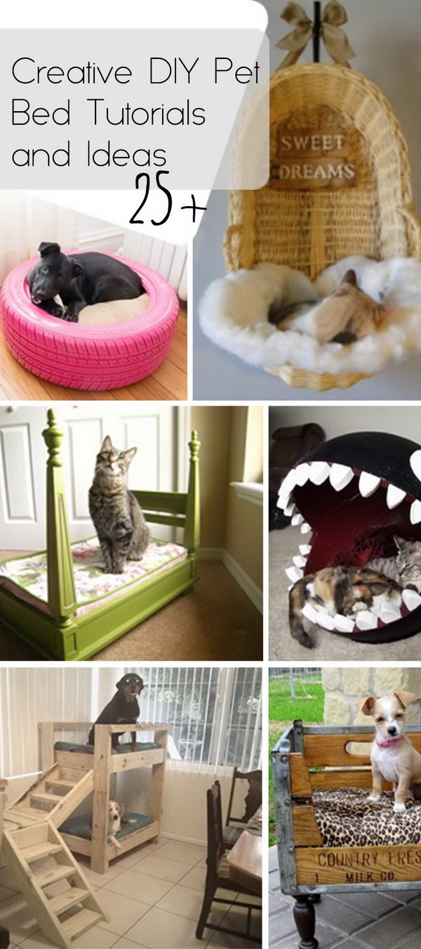 25+ Creative DIY Pet Bed Tutorials and Ideas