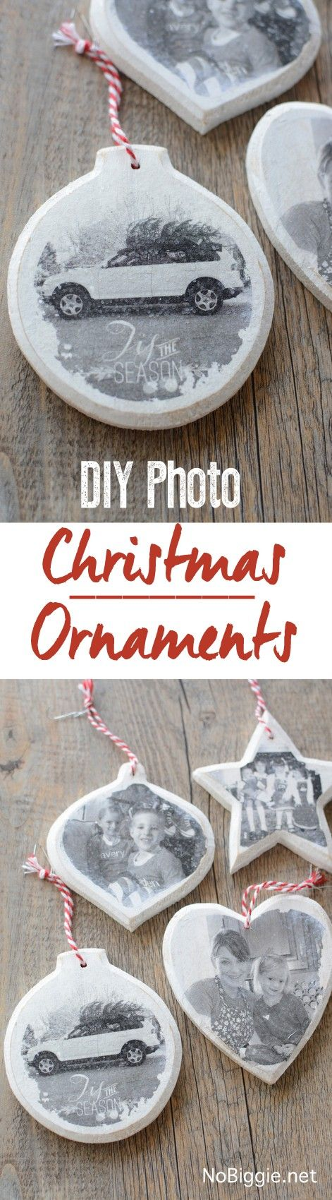 Transfer Cherished Photos Onto Wood Ornaments.