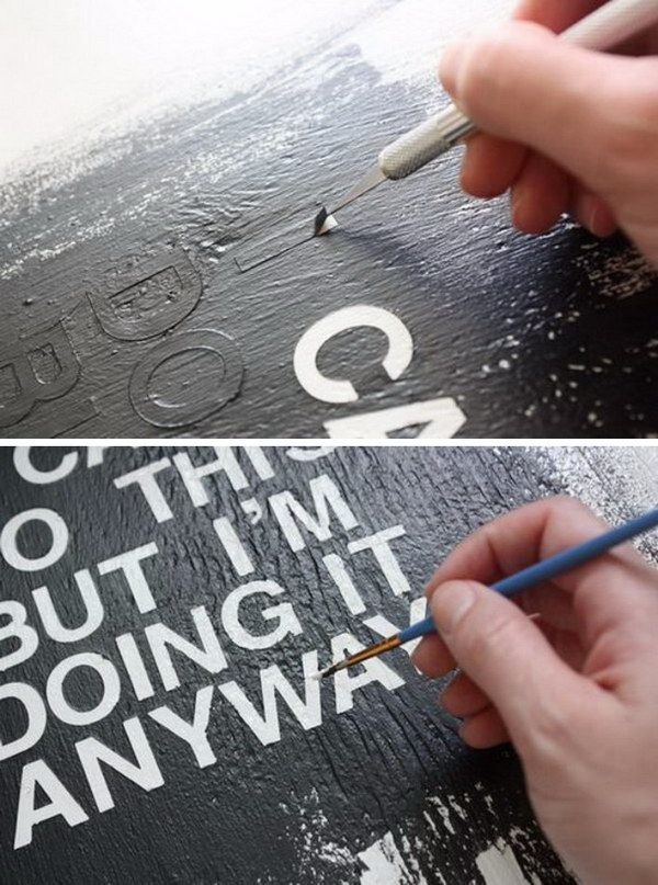 DIY Text Art.