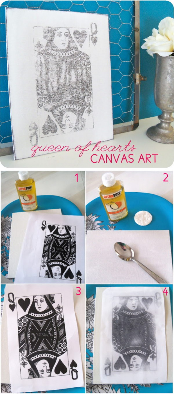 Queen Of Hearts Photo Transfer Canvas.