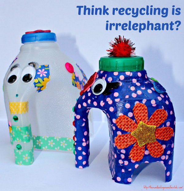 20 cool plastic bottle recycling projects for kids for Cool things to make out of recycled materials