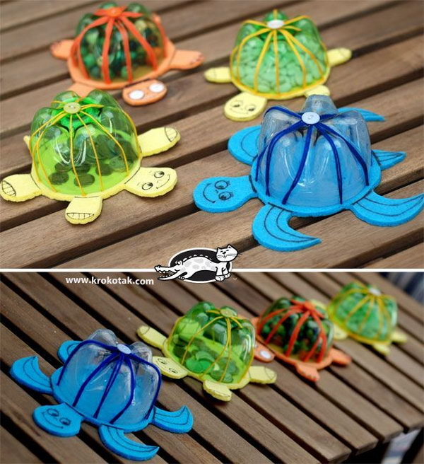 20 cool plastic bottle recycling projects for kids for Easy recycled materials