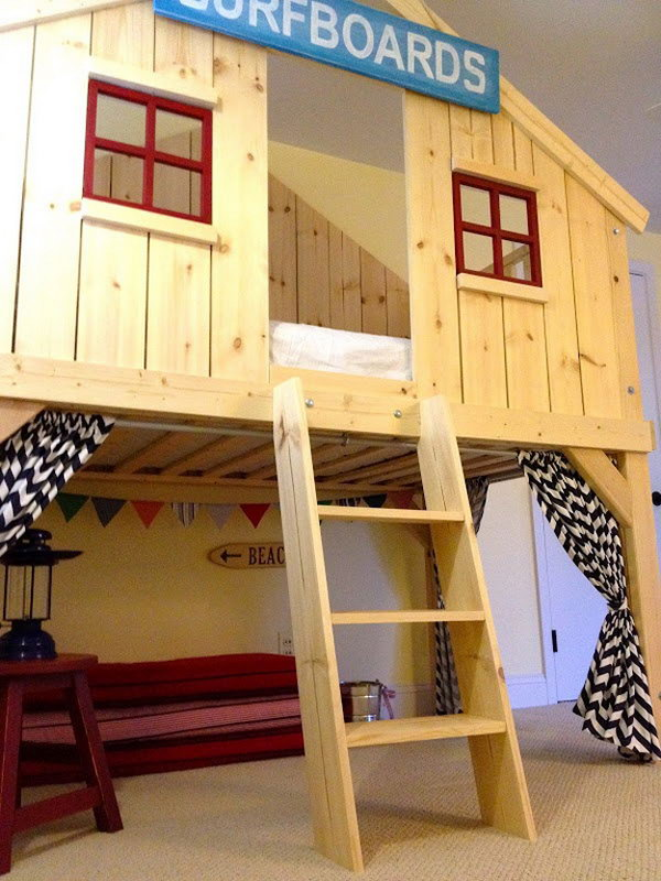 Pottery Barn Inspired Fort Bed for Kids