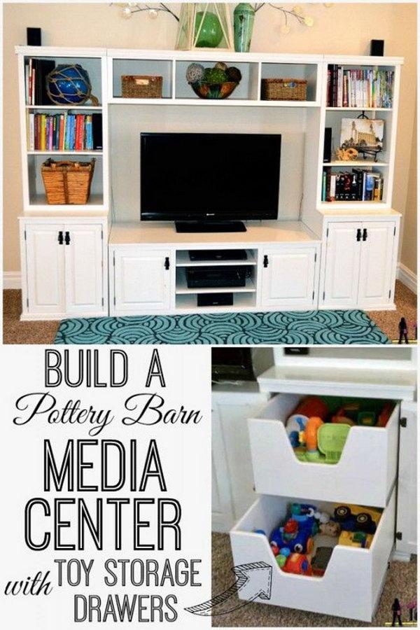 Pottery Barn Media Center Building Plans