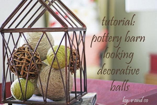 Pottery Barn Looking Decorative Balls