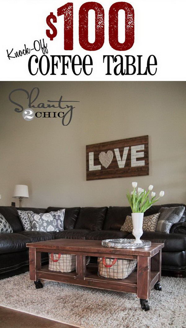 Pottery Barn Knockoff Coffee Table