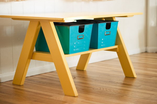 Pottery Barn Inspired DIY Kids Table
