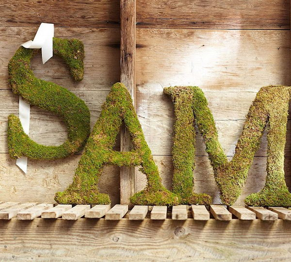 Knock-Off Version of Pottery Barn Moss Letters