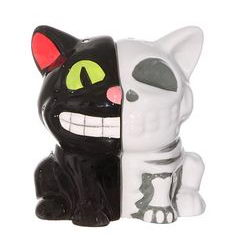 Creepy Cat Anatomy Salt Shakers.