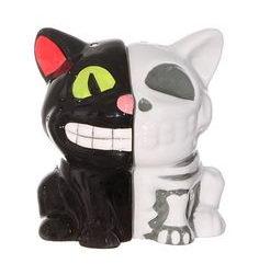 Creepy Cat Anatomy Salt Shakers.