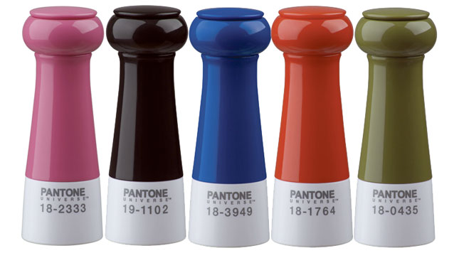 Pantone Salt and Pepper Mills.
