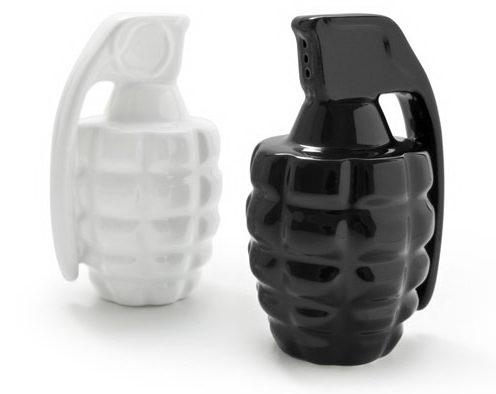 Taste Explosion Grenade Salt and Pepper Shakers ($25).