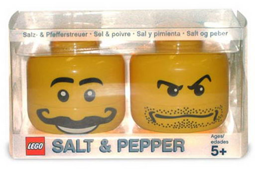 Lego Mini Figure Salt & Pepper Shaker Set.