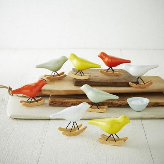Rocking Bird Salt + Pepper Shaker Set.