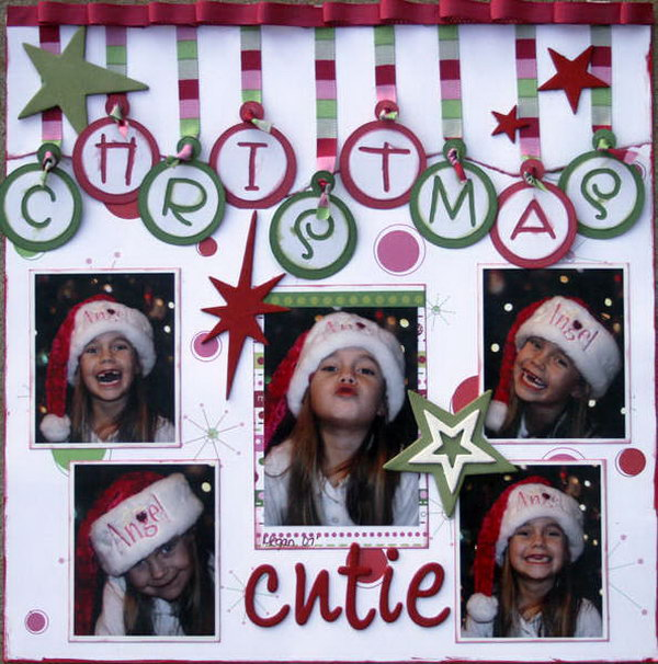 A creative scrapbooking idea for your Christmas. The word