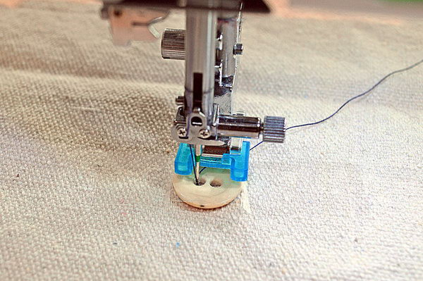 Sew buttons on with your sewing machine