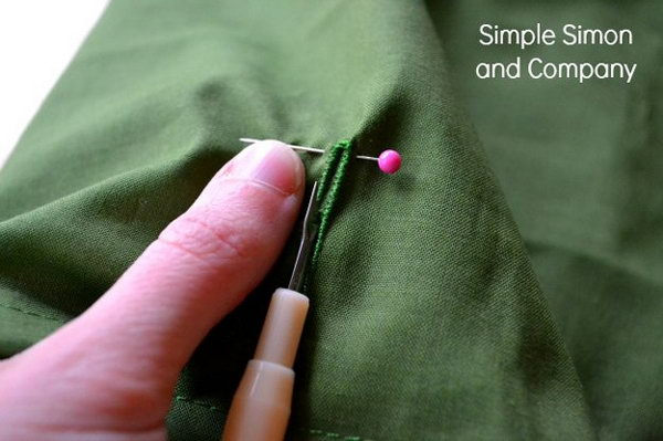 Save your button holes with one simple trick.